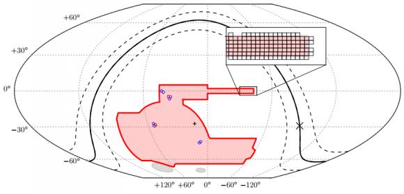Dibujo20180110 DES survey area in celestial coordinates darkenergysurvey org