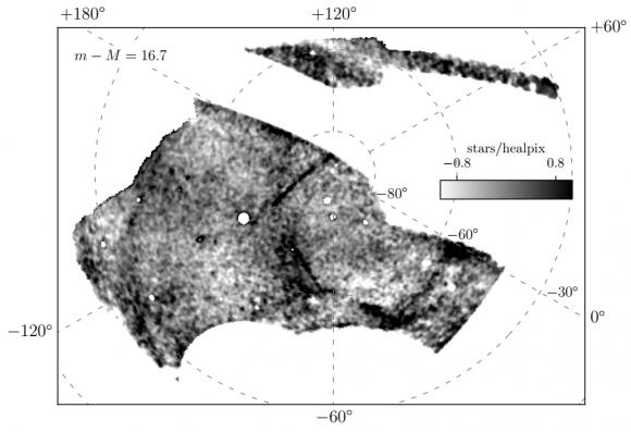 Dibujo20180110 photometric data 11 stellar streams in Milky wave Dark Energy Survey darkenergysurvey org