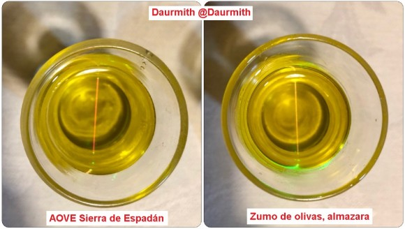 Dibujo20180201 green laser extra olive oil vs olive juice daurmith photos