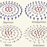 Transmutación topológica de vórtices de espines