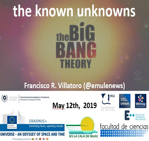 Conferencia en Málaga: Big Bang Theory. The Known Unknowns