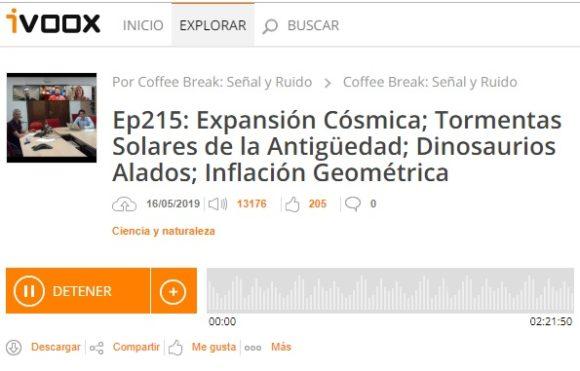 Podcast CB S&R 215: Expansión cósmica, tormentas solares, inflación geométrica y más