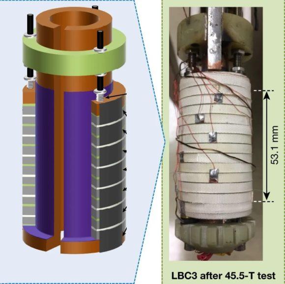 Un imán híbrido superconductor-resistivo que alcanza 45.5 teslas
