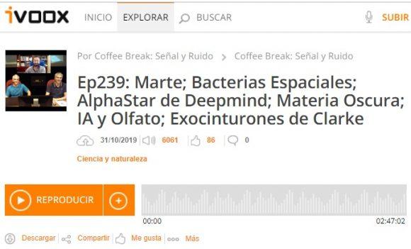 Podcast CB SyR 239: AlphaStar de Deepmind, materia oscura y más noticias