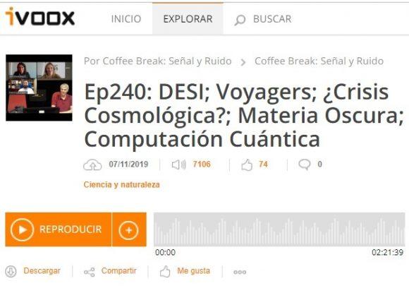 Podcast CB SyR 240: posible crisis cosmológica, materia oscura y supremacía cuántica