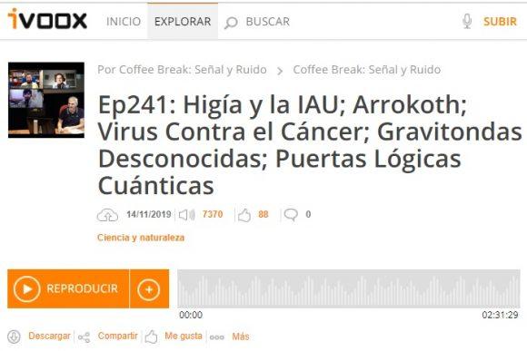 Podcast CB SyR 241: Higía, Arrokoth, virus, gravitondas y puertas lógicas cuánticas