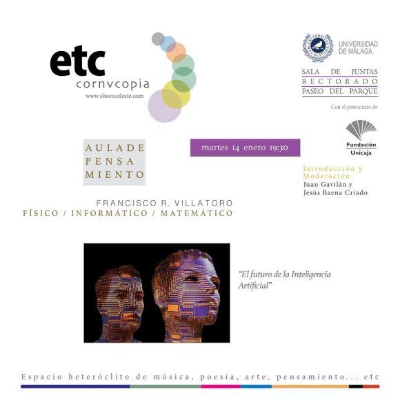 """Conferencia en Málaga: """"El futuro de la inteligencia artificial"""" en Aula de Pensamiento"""