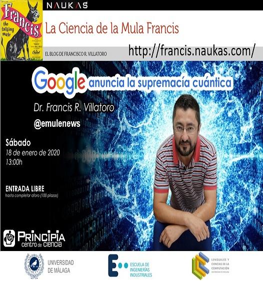 """Conferencia en Málaga: """"Google anuncia la supremacía cuántica"""" en Centro Principia"""
