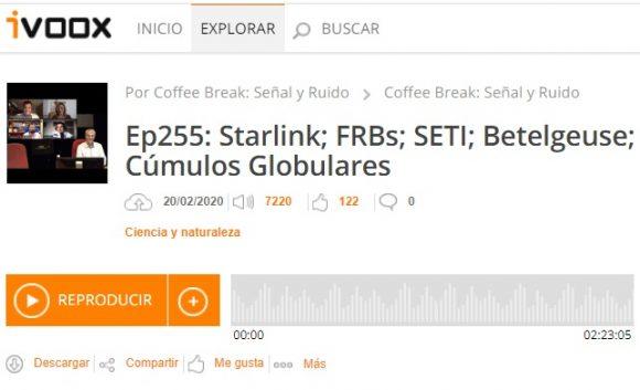 Podcast CB SyR 255 (0xFF): Betelgeuse, TMT, FAST, cúmulos globulares y más noticias