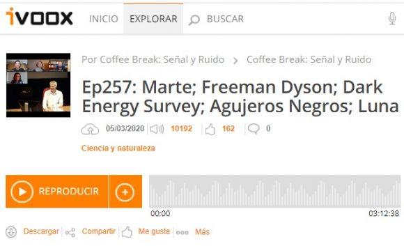 Podcast CB SyR 257: Dyson, DES Y1, agujeros negros, Yutu 2 en la Luna, e Insight en Marte