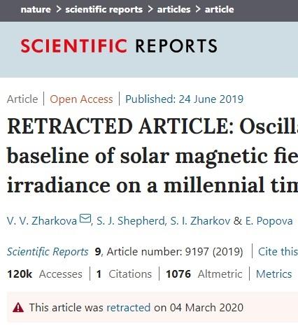 Se retira el polémico artículo sobre el Sol como causa del calentamiento global