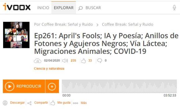 Podcast CB SyR 261: April's Fools; IA y Poesía; Agujeros Negros; Vía Láctea; y mucho más