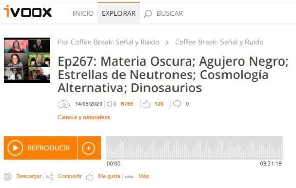 Podcast CB SyR 267: Materia oscura, agujeros negros, cosmología y dinosaurios