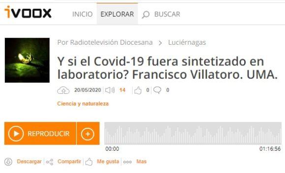 Francis en Luciérnagas: ¿Y si el coronavirus de la COVID-19 hubiera sido sintetizado en un laboratorio?