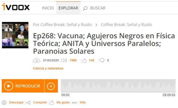 Podcast CB SyR 268: vacuna de Moderna para la COVID-19, ANITA y los universos paralelos, paranoias solares y mucho más