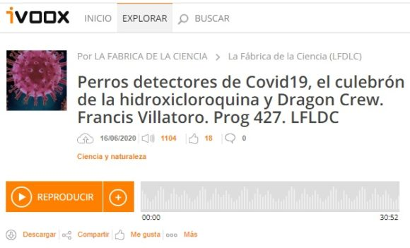 Francis en LFDLC: COVID-19, hidroxicloroquina y Dragon Crew (Programa 427)