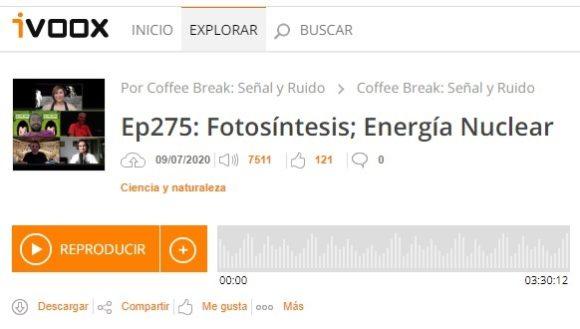 Podcast CB SyR 275: fotosíntesis y energía nuclear