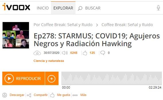 Podcast CB SyR 278: linfocitos T en la COVID-19, agujeros negros y radiación de Hawking