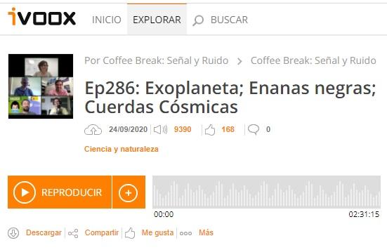 Podcast CB SyR 286: Exoplaneta en enana blanca, enanas negras, NANOGrav, cuerdas cósmicas y más temas