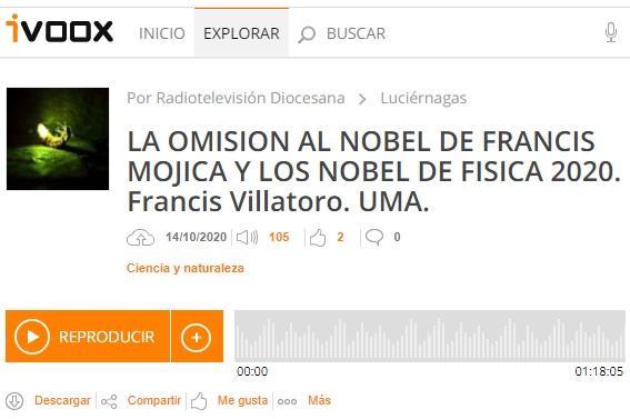 Francis en Luciérnagas: Los premios Nobel de Química y Física de 2020