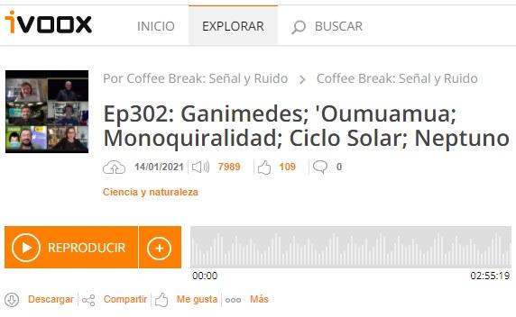 Podcast CB SyR 302: Ganimedes, 'Oumuamua, quiralidad, ciclo solar y Neptuno