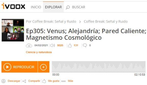 Podcast CB SyR 305: Fosfano en Venus, Alejandría, física solar y magnetismo cosmológico