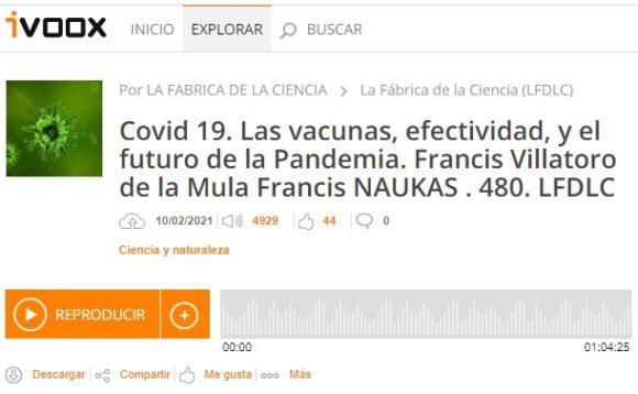 Francis en LFDLC: Las vacunas, su eficacia y el futuro próximo de la pandemia (programa 480)