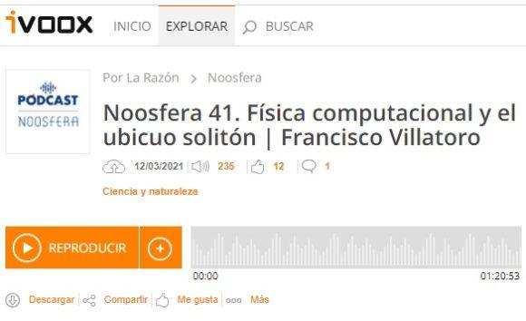 Francis Noosfera: Física computacional y el ubicuo solitón (episodio 41)