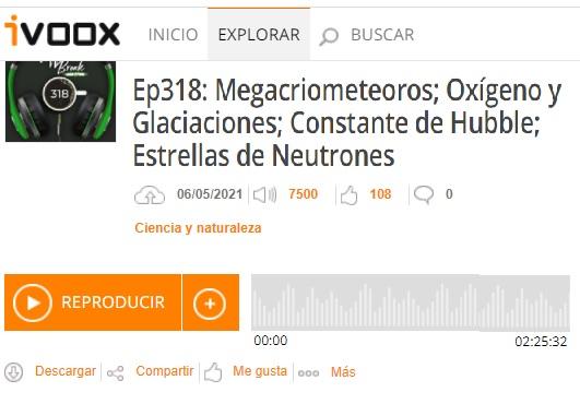 Podcast CB SyR 318: Gran Oxidación y glaciaciones, kilonovas y constante de Hubble, y estrellas de neutrones según NICER