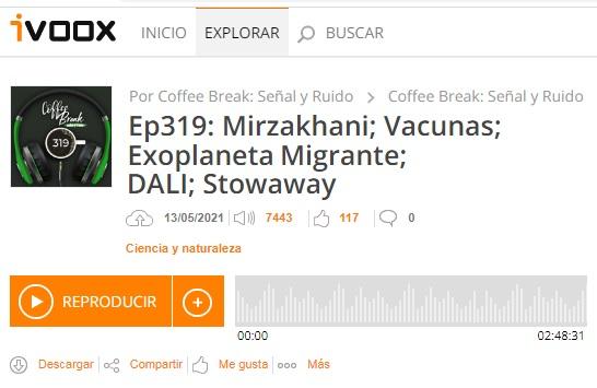 Podcast CB SyR 319: Mirzakhani, vacunas para la COVID, júpiter caliente migrante, DALI y la película 'Stowaway'