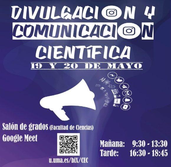 """Francis en el evento """"Divulgación y Comunicación Científica"""" de la Universidad de Málaga"""