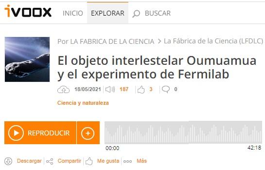 Francis en LFDLC: El experimento Muon g−2 del Fermilab y 'Oumumua (programa 500)