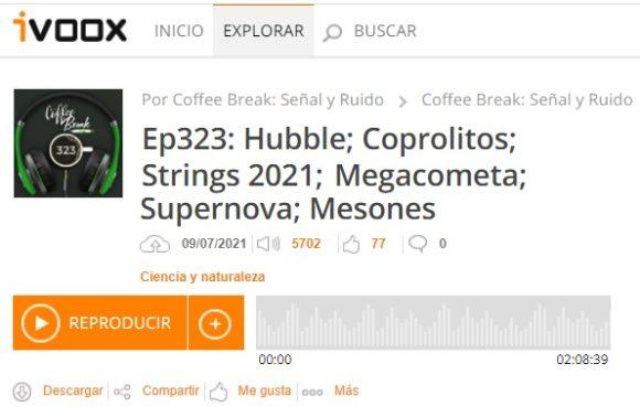 Podcast CB SyR 323: escarabajos en coprolitos, Strings 2021, megacometa, supernova y mesones encantados