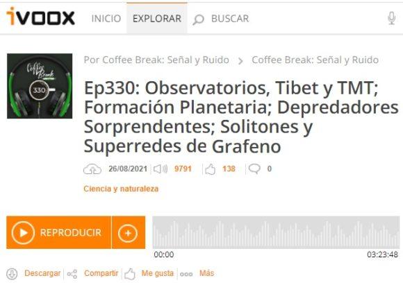 Podcast CB SyR 330: formación planetaria, depredadores sorprendentes y solitones en superredes de grafeno