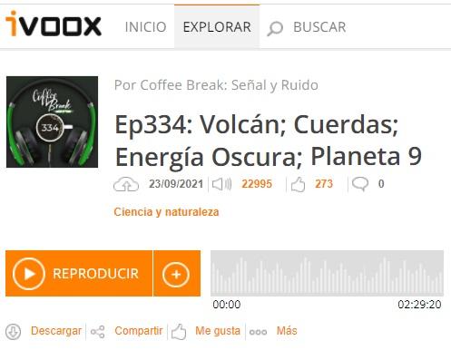 Podcast CB SyR 334: volcán en La Palma, teoría de cuerdas, energía oscura y planeta 9