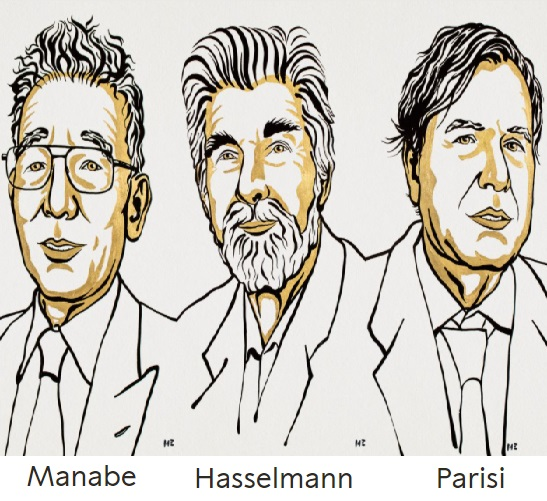 Premio Nobel de Física 2021: Manabe y Hasselmann por el modelado del cambio climático, y Parisi por la física de los sistemas complejos
