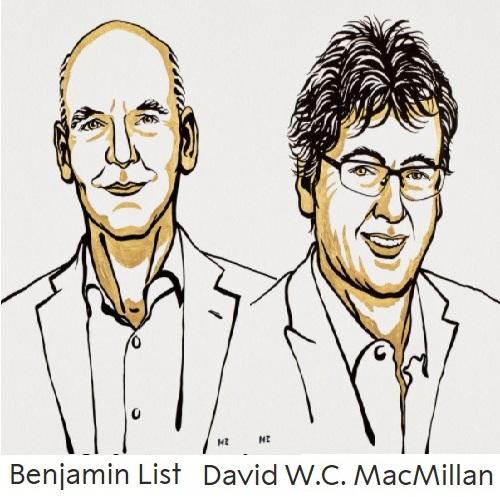 Premio Nobel de Química 2021: List y MacMillan por la organocatálisis asimétrica aplicada a farmacología y química verde